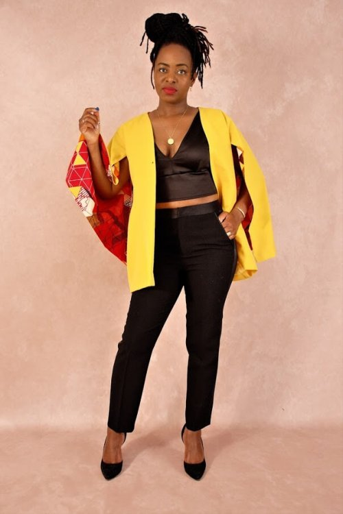 blazer cape yellow africaninspired pfeka clothing etnical clothing