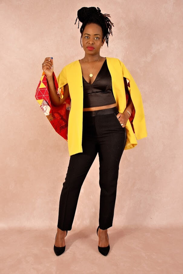 blazer cape yellow africaninspired pfeka clothing etnical clothing